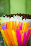 Kleurrijk stro Stock Foto's