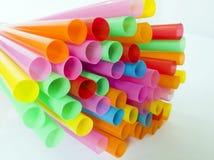 Kleurrijk Stro Stock Afbeeldingen