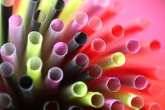 Kleurrijk strodetail stock afbeelding