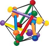 Kleurrijk Stuk speelgoed Stock Illustratie
