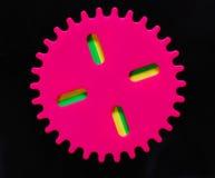 Kleurrijk stuk speelgoed royalty-vrije stock foto