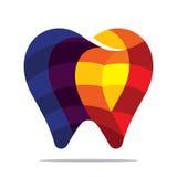 Kleurrijk tandpictogram Stock Afbeeldingen
