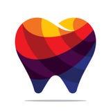Kleurrijk tandpictogram Stock Afbeelding