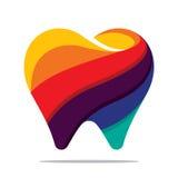 Kleurrijk tandpictogram Royalty-vrije Stock Afbeeldingen