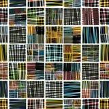 Kleurrijk textiel naadloos patroon. royalty-vrije illustratie