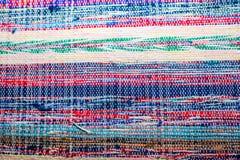 Kleurrijk Transsylvanisch huis gemaakt omhoog geschoten tapijt dicht royalty-vrije stock fotografie