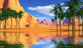 Kleurrijk tropisch landschap Royalty-vrije Stock Afbeelding