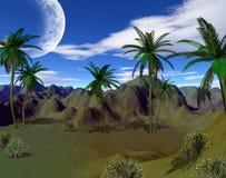 Kleurrijk tropisch landschap Stock Foto