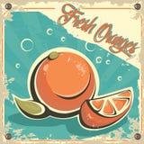 Kleurrijk uitstekend Jus d'orangeetiket Royalty-vrije Stock Foto's
