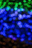 Kleurrijk vaag licht bokeh Royalty-vrije Stock Foto