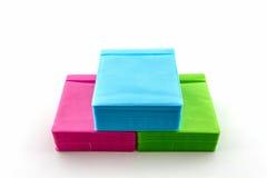 Kleurrijk van CD document geval Stock Afbeeldingen