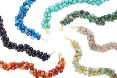 Kleurrijk van Chakra-steenarmbanden royalty-vrije stock fotografie