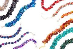 Kleurrijk van Chakra-steenarmbanden stock afbeelding