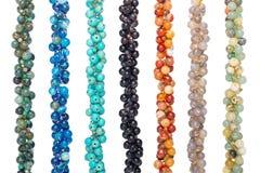 Kleurrijk van Chakra-steenarmbanden royalty-vrije stock afbeelding