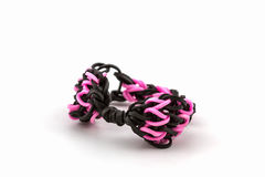Kleurrijk van de elastische banden van het regenboogweefgetouw Royalty-vrije Stock Foto's