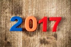 Kleurrijk van het nieuwe jaar van 2017 Stock Afbeeldingen