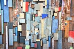 Kleurrijk van houten textuur Stock Foto