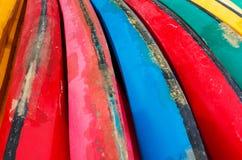 Kleurrijk van kano, achtergrond Royalty-vrije Stock Afbeelding