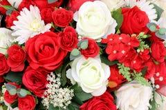 Kleurrijk van kunstbloemen, kleurrijk bloemenboeket Royalty-vrije Stock Foto