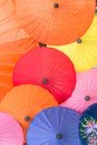 Kleurrijk van paraplu in Chiang Mai-markt Stock Foto's