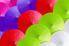 Kleurrijk van paraplu's Royalty-vrije Stock Fotografie