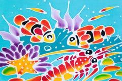 Kleurrijk van patroon gedrukte doek Royalty-vrije Stock Afbeelding