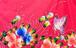 Kleurrijk van patroon gedrukte doek Stock Foto