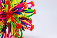 Kleurrijk van plastic stuk speelgoed Stock Foto's