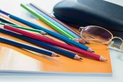 Kleurrijk van potlood Royalty-vrije Stock Foto's