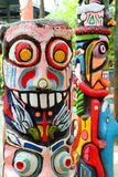 Kleurrijk van totem. Stock Fotografie