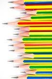 Kleurrijk van zwarte potloden Stock Foto
