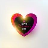 Kleurrijk vector abstract hart Stock Afbeelding