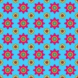 Kleurrijk Vector Bloemenpatroon Stock Afbeeldingen