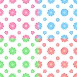 Kleurrijk vector naadloos patroon met bloemen (het betegelen) stock illustratie