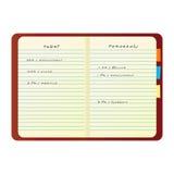 Kleurrijk vectornotitieboekje Stock Foto