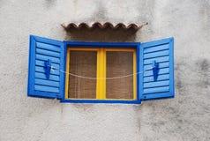 Kleurrijk venster Stock Foto