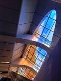 Kleurrijk venster zoals een vis royalty-vrije stock afbeeldingen