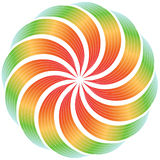 Kleurrijk verdraaid ontwerp royalty-vrije illustratie