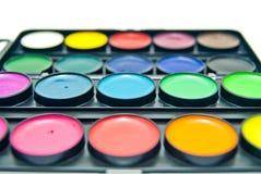 Kleurrijk verfclose-up op wit Royalty-vrije Stock Foto