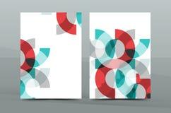 Kleurrijk vers bedrijfsa4 dekkingsmalplaatje - vlieger, brochure, boektijdschrift en jaarverslag royalty-vrije illustratie