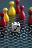 Kleurrijk verschillend houten het spelspel van de cijferkleur Stock Foto