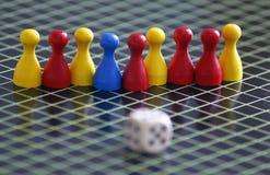Kleurrijk verschillend houten het spelspel van de Figurkleur Stock Afbeeldingen