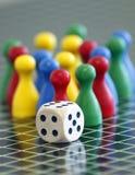 Kleurrijk verschillend houten het spelspel van de Figurkleur Royalty-vrije Stock Foto