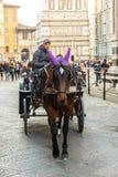 Kleurrijk vervoer voor Florence Duomo Stock Afbeeldingen