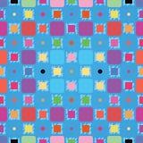 Kleurrijk Vierkantenpatroon Stock Afbeeldingen