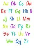 Kleurrijk volledig alfabet Stock Afbeeldingen