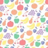 Kleurrijk vruchten naadloos patroon royalty-vrije illustratie