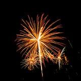 Kleurrijk vuurwerk Stock Foto's