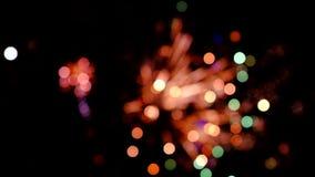 Kleurrijk vuurwerk stock footage