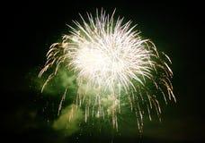 Kleurrijk vuurwerk in de nachthemel Stock Foto's